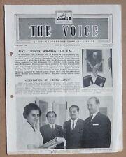 THE VOICE HMV Gramaphone's monthly magazine India Oct 1964
