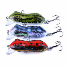 3 X 6cm Frog Fishing Lure Redfin Bass Yellowbelly Barra Trout Cod Perch Red Frog