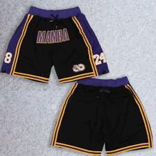 Los Angeles Lakers Shorts Mamba 8-24 Pocket Zipper All Sewn