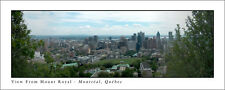 Poster Panorama Montreal Quebec Skyline Mount Royal Panoramic Fine Art Print