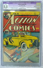ACTION COMICS #30 CGC 5.5 SUPERMAN Cover 1940 1st app & Death of Zolar