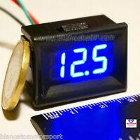 MINI VOLTMETRO DIGITALE 0-30V LED BLU da PANNELLO [ tester auto moto camper dc