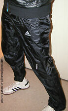 adidas shiny nylon trousers trackies wetlook Glanz Sporthose  like Cal Surf  46L