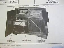GILFILLAN 108-48 PHONOGRAPH RADIO RECORDER PHOTOFACT