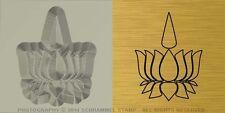 #R01 AYYAVAZHI Religion Steel HAND STAMP Lotus Carrying Namam Silver Metal Punch