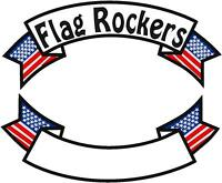 CUSTOM EMBROIDERED MOTORCYCLE    14 INCH  FLAG ROCKER PATCH