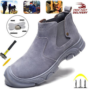 MENS STEEL TOE CAP WOMENS SAFETY TRAINERS BOOT HIKING SHOES TRAINERS WORK SHOES