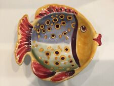 New ListingTabletops Unlimited Handpainted Under The Sea Ceramic Serving Bowl