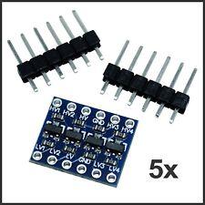 5x Pegelwandler 4 Kanal I2C IIC Logic Level Converter 5V~3.3V Arduino Ra