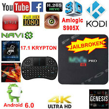 PRO 4K TV BOX S905X 8GB Android 6 K ODI Quad Core WIFI HDMI Player+2.4G Keyboard