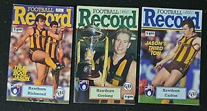 RARE  3 x AFL Football Record 1992 - March/May/July - HAWTHORN