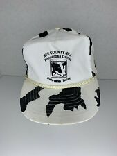 Vintage Snapback Mesh Trucker Hat Dairy Cow Print Theme