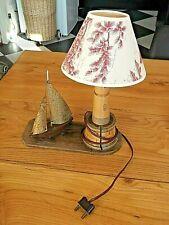 Vintage Lampe veilleuse  phare et bateau