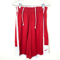 Nike Mens Size Medium  Drifit Drawstring Red/White Mesh Athlectic Shorts