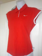 NIKE GIRLS RED AND WHITE POLO  SHIRT SIZE LARGE