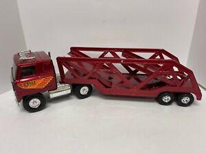 Vintage Ertl Eagle Coast to Coast Car Hauler Semi Truck Metal Transporter