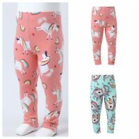 Kids Girls Casual Pants Spring Stretchy Trousers Dance Cartoon Leggings Clothes