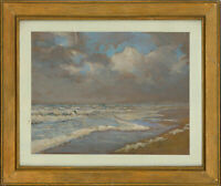 Ernest H. Atkin - Early 20th Century Gouache, The Fringe of the Tide