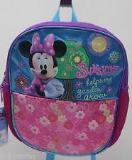Disney Minnie Mouse Purple Pink Sunshine Mini Backpack Bookbag 12x10x4 NWT