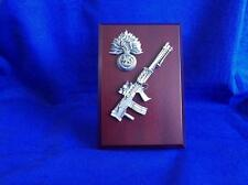 ROYAL REGIMENT OF FUSILIERS CAP BADGE AND LIGHT SUPPORT WEAPON ( LSW ) PLAQUE