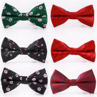 Christmas Men Bowtie Necktie Bow Tie Adjustable Lovely Festival Novelty Gift Lot