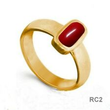 5 CT Italian RED CORAL Excellent Quality Copper Ring RC2