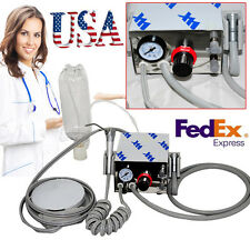 4Hole Dental lab Portable Turbine Unit work W/ Compressor+ bottle+ water syringe