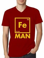 Iron Man Short Sleeve Cotton Solid T-Shirts for Men
