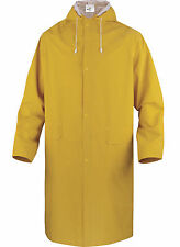 Delta Plus 305 Waterproof Rain Coat Hooded PVC Polyester Long Jacket (MA305)