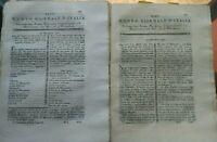 1791 NUOVO GIORNALE D'ITALIA: LOTTO RIVISTE SU CHIMICA E PEDAGOGIA AGRICOLA