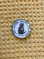 Cat Lovers Against The Bomb Vintage Badge