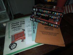 Pedal Tractor , Oliver, John Deere, Case , etc 3 VHS set & Parts Book