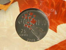 🍁 2003 Canada Color 25 Cents Canada Day Original Packaging  #6895