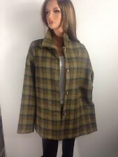 Company Ellen Tracy 100% Wool Green Plaid Jacket, Size 14