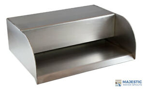 """PICARD 12"""" CASCADING WATER FOUNTAIN SPILLWAY STEP SCUPPER - STAINLESS STEEL"""