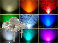 SuperFlux LED 5mm 90° Blau,Rot,Grün,Gelb,Orange,Weiß,Pink,Türkis,Eisblau Piranha