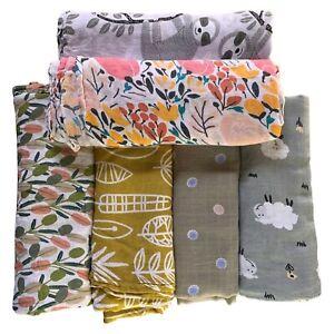 Baby Swaddle Wrap Bamboo Cotton Baby Muslin Swaddling Blanket 120cm Muslin Wrap
