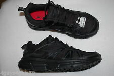 Mens Athletic Shoes BLACK LEATHER AVIA TRAIL Lace Up LIGHTWEIGHT Flexible 8.5