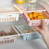 Adjustable Drin Storage Rack Refrigerator Partition Layer Organizer Kitchen Tool