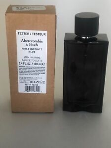 ABERCROMBIE & FITCH FIRST INSTINCT BLUE EDT 3.4 OZ FOR MEN WITH CAP NEW TESTER