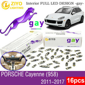 16 Bulbs Deluxe White LED Interior Light Kit For (958) 2011-2017 Porsche Cayenne
