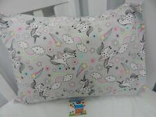 Pillowcase Flannelette Cot Toddler Size Unicorns Rainbows 100% Cotton Snug Warm