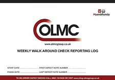 HGV / Truck/ Lorry Driver Weekly Defect Reporting Book / Pad