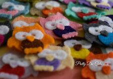 Felt Owls!  (pack of 8) Die Cut Craft Embellishments
