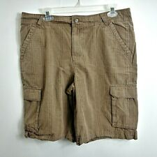 Patagonia Mens Cargo Shorts 34 Light Brown Flat Front Side Pockets Adult