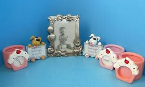 Modern Lot of 6 Picture Frames w/Cupcakes Dogs & Birthday Pieces L@@K