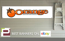 ORANGE Mountain Bike Banner, PVC Sign for workshop, garage, Orange Bikes