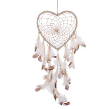 Protective Heart Design Dream Catcher with Feathers - UK Stock