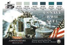 LifeColor CS24 Camouflage Set US NAVY Set1 6x 22ml Acrylic Colours