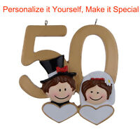 MAXORA Personalized Ornament 50th Anniversary Wedding Couple Gifts